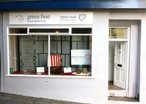 Our funeral shop front in Totnes