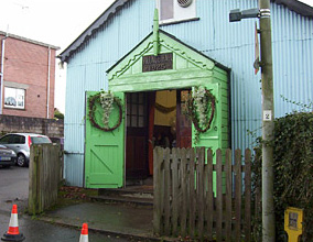 a village hall where their wedding reception took place 40 years previously