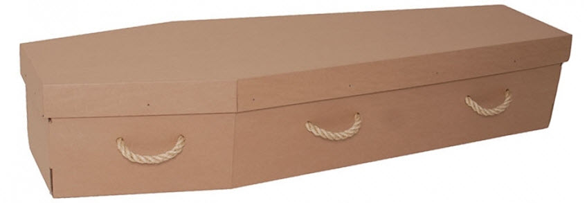 funerals-totnes-devon-coffins-cardboard-plain-brown