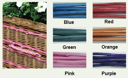 funerals-totnes-devon-coffins-woven-willow-handles-banding-colours
