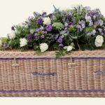 funerals-totnes-devon-coffins-woven-willow-rounded-gold-purple