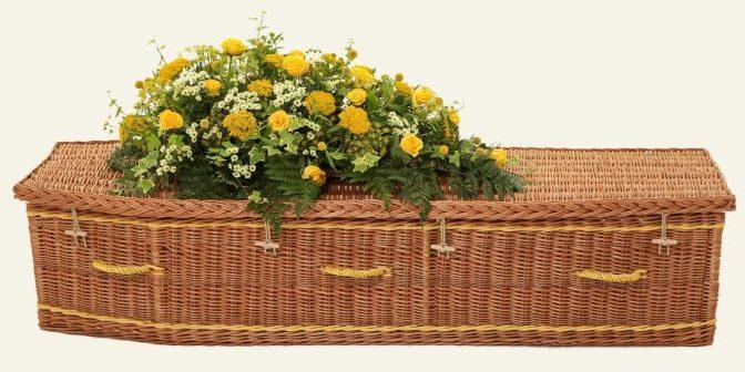 funerals-totnes-devon-coffins-woven-willow-traditional-buff-yellow
