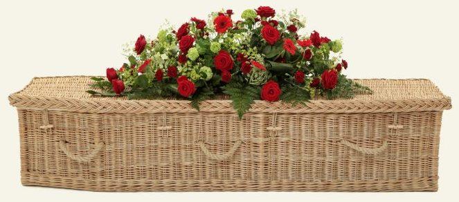 funerals-totnes-devon-coffins-woven-willow-traditional-gold
