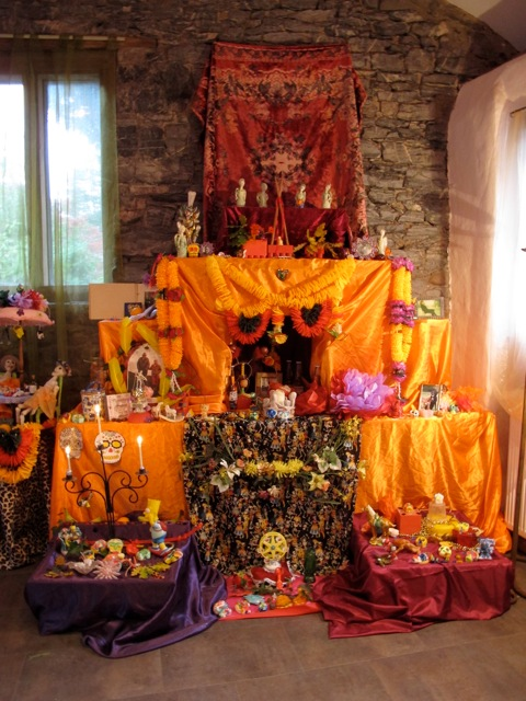 events day of dead altar