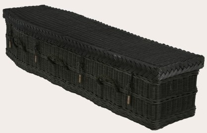 funerals-totnes-devon-coffins-woven-wicker-black