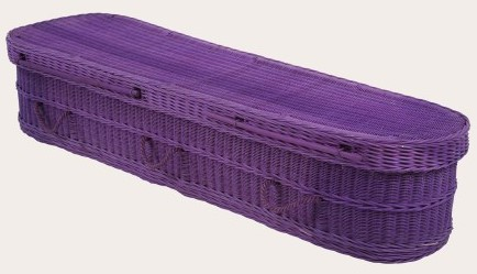 funerals-totnes-devon-coffins-woven-wicker-purple