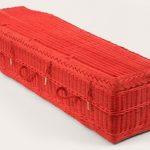 funerals-totnes-devon-coffins-woven-wicker-red
