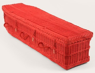 funerals-totnes-devon-coffins-woven-wicker-red